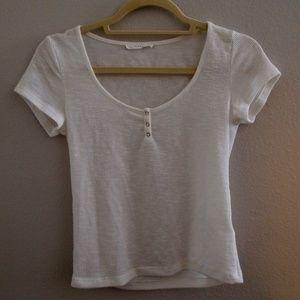 Lush: White Short Sleeve Shirt